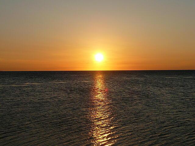 ノシャップ岬の夕日