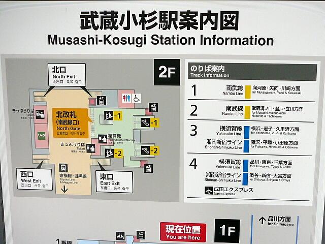 武蔵小杉駅案内