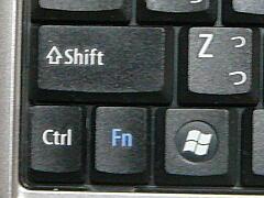 CtrlとFnのキー配置