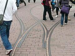 ジョリートロリーの線路
