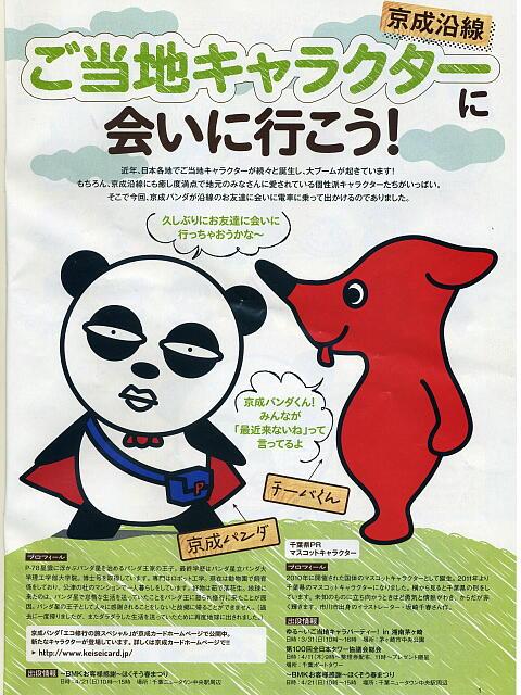 京成パンダとチーバくん