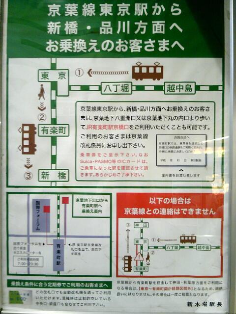 京葉線乗り換え案内ポスター