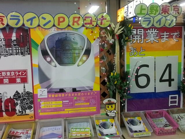 上野東京ラインのポスター
