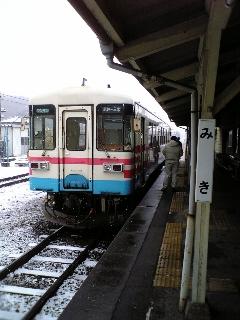 雪の三木鉄道