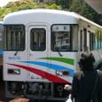 阿佐海岸鉄道の列車が到着