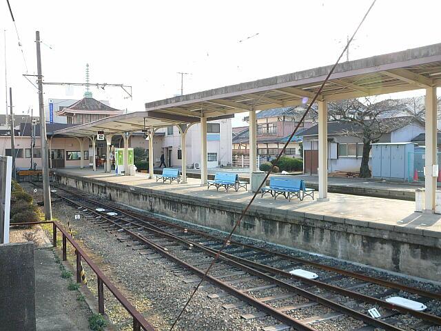 水間駅ホーム