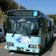 室戸岬に到着したバス