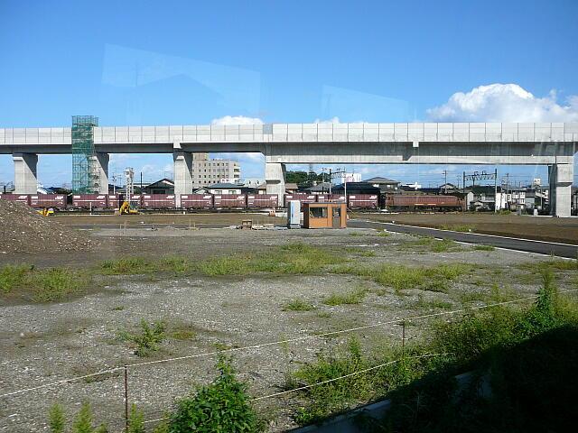 北陸新幹線の高架線