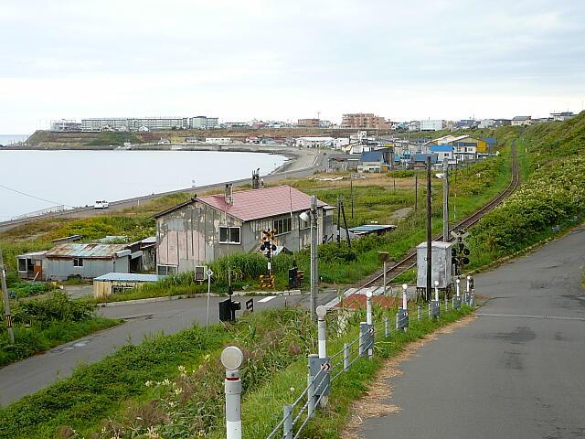 瀬越駅付近からの海の眺め