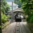 清滝駅を発車