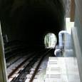 駅手前のトンネル