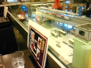 鉄道模型見ながら昼食