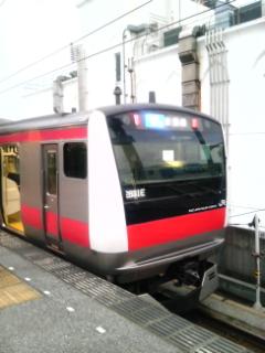 西船橋駅にて